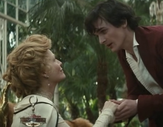 "Michelle Pfeiffer e Rupert Friend in una scena del film ""Chéri"" di Stephen Frears"